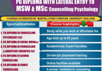 Admission open 2020 for PG Diploma Courses