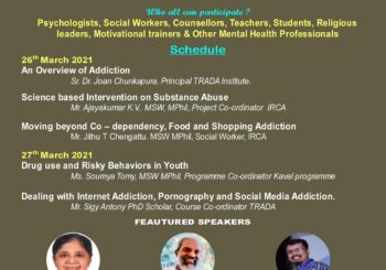 Announce Two day Workshop on Youth Addiction & Management (YAM 2021)